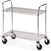 """Metro Two-Shelf Wire Carts - 42"""" Wx24"""" D Shelf"""