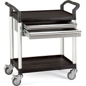 "Relius Solutions High-Capacity Utility Carts With Alum. Uprights - 26""Wx17""D Shelf - 37""H W/Drawer"
