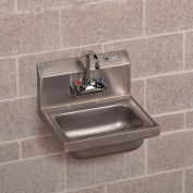 "John Boos Wall-Mount Sink - 17X15X12-3/4"" - With Dual-Handle Faucet"
