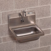 "John Boos Wall-Mount Sink - 17X15X12-3/4"" - With Automatic Faucet"
