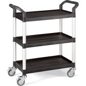"Relius Solutions High-Capacity Utility Carts With Aluminum Uprights - 26""Wx17""D Shelf - 39""H"