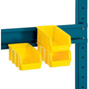 "Edsal 72""W Bin Rail For Production Benches"