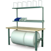 Stackbin Adjustable Height Packing Bench with Plastic Laminate Square Edge Top - 72 x 30