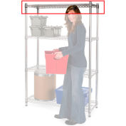 """Relius Elite Extra Shelf For High-Capacity Wire Shelving - 60X24"""" Chrome"""