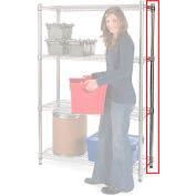 """Extra Mobile Post For Relius Elite High-Capacity Wire Shelving - 34""""H Chrome - Pkg Qty 2"""
