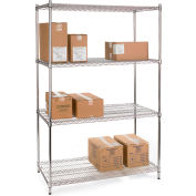 """Relius Solutions Wire Shelving With Chrome Finish 36"""" X 18"""" X 72"""""""