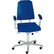 Milagon Aklaim Premium Multi-Shift Blue And Black Seating - Chair - Floor Glides - Black