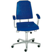 "Milagon Aklaim Premium Multi-Shift Chair - Stool - Floor Glides - Blue - 24-34""H"