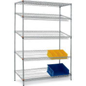 "Relius Solutions Wire Gravity Flow Shelving 48"" X 24"" X 72"""