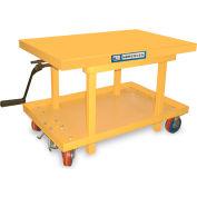 """Hercules Mechanical Mobile Post Lift Tables - 42""""Wx24""""D Platform"""