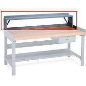 "Edsal Bench Riser For Benches - 72X10-1/2 X12"" - Gray"