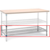 """Relius Solutions Lower Shelf For Wire Workbenches - 58X28"""" Chrome"""