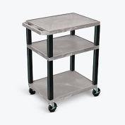 "Luxor Tuffy Utility Carts - 24""Wx18""D Shelf - 34""H Gray"