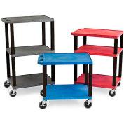 "Luxor H.Wilson Tuffy Utility Carts - 24""Wx18""D Shelf - 42""H Blue"