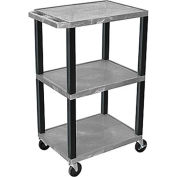 "Luxor H.Wilson Tuffy Utility Carts - 24""Wx18""D Shelf - 42""H Gray"