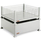 Global Industrial™ Mini-Bulk Container 38x38x16 2600 Lb Capacity - Wire Mesh Sides