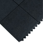 Wearwell 24/Seven Anti-Fatigue Mat - Nitrile Rubber - Solid Tile - 3X3'