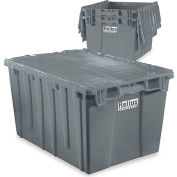 "Relius Solutions Tote With Attached Lid - 21.9"" X 15.2"" X 9.3"" - Gray"