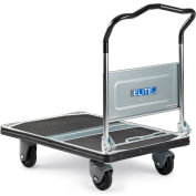 "Relius Elite Steel-Deck Platform Trucks With Folding Handles - 35.4""Lx23.6""W Deck - 8.5"" Deck Height"