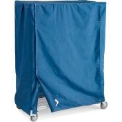 "Wire Truck Covers - Blue - Fits 48""Wx24""Dx74""H Shelf Trucks"