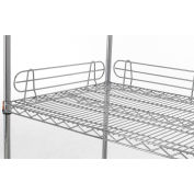 "Relius Solutions 5""H Side And Back Shelf Ledge For Wire Shelving With Chrome Finish"