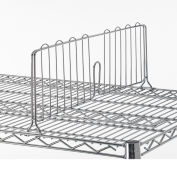"""Relius Solutions 8""""H Shelf Divider For Open Wire Shelving With Chrome Finish 24"""""""