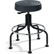 "Bevco Padded Polyurethane Chair - Tubular Steel Base - 20-25"" Seat Height Black"