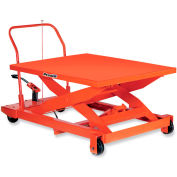 "Presto Mobile Manual Scissors Lift Tables - 1000-Lb. Capacity - 36""Wx48""D Platform"