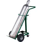 "Akro-Mils Folding Gas Cylinder Trucks - 1-Cylinder Capacity - 10"" Full-Pneumatic Wheels"