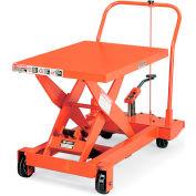"""Presto Mobile Manual Scissors Lift Tables - 600-Lb. Capacity - 20""""Wx32""""D Platform"""