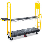 "Rubbermaid Stockmate Hinged-Deck U-Boat Truck - 60""Lx18""W Deck"