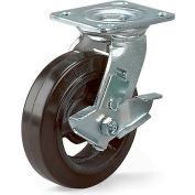 "Economical Casters - Swivel - 8""Dia.X2""W Rubber On Steel Wheel"