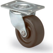 "Faultless Light-Duty Casters - Swivel - 3""Dia.X1--1/4""W Hard Rubber Wheel"