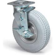 "Full-Pneumatic Casters - Swivel W/Brake - 8""Dia.X2-1/2""W Wheel - Black"