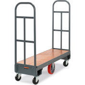 "Relius Solutions High-End Platform Trucks - 60""Lx16""W Deck - Steel-Bound Wood Deck"