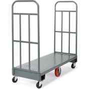 "Relius Solutions High-End Platform Trucks - 60""Lx24""W Deck - 13-Gauge Steel Treadplate Deck"