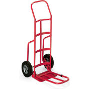 "Milwaukee Steel Hand Trucks With Continuous Handle - 10"" Solid Rubber Wheels - 14X10"""