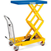 Hercules Mobile Scissor Lift Tables - 770-Lb. Capacity - Steel Top, Painted Blue