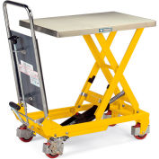 Hercules Mobile Scissor Lift Tables - 1100-Lb. Capacity - Steel Top, Painted Blue
