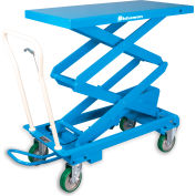 Bishamon Mobilift Manual Scissors Lift Tables - 660-Lb. Capacity BX-30S/CRATED