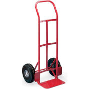 "Milwaukee Steel Hand Trucks With Continuous Handle - 10"" Full-Pneumatic Wheels - 14X8"" Noseplate"