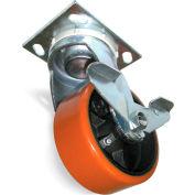 "Fairbanks Casters - Swivel - 6""Dia.X2""W Mold-On Rubber Wheel E29-6-RT"