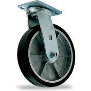 """Mold-On Rubber Caster - Rigid - 6"""" Dia. x 2""""W Wheel"""