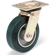 """E.R. Wagner Casters - 6""""Dia.X2""""W Mold-On Rubber Tread Permanently Bonded To An Aluminum Core Swivel"""