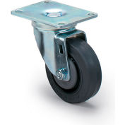"Dolly Replacement Casters - 3.5""Dia.X1-1/4""W Gray Rubber Wheel - 225-Lb. Capacity"