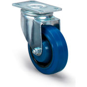 """Dolly Replacement Casters - 4""""Dia.X1-3/8""""W Blue Rubber Wheel - 330-Lb. Capacity"""