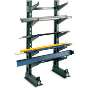 """Jarke Button-On Cantilever Rack Arms - 12""""L - Arm Cap. Lbs. 1000 - Straight Arm with Lip"""
