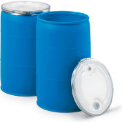 Open-Head Plastic Drums - 30-Gallon Capacity