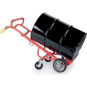 "Wesco 4-Wheel Drum Trucks - Polyolefin Wheels - 6"" Rigid Rear Wheels"