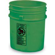 Plastic Pail - 5-Gal. Capacity - Green - Pkg Qty 4
